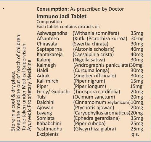 Immuno Jadi Ingredients